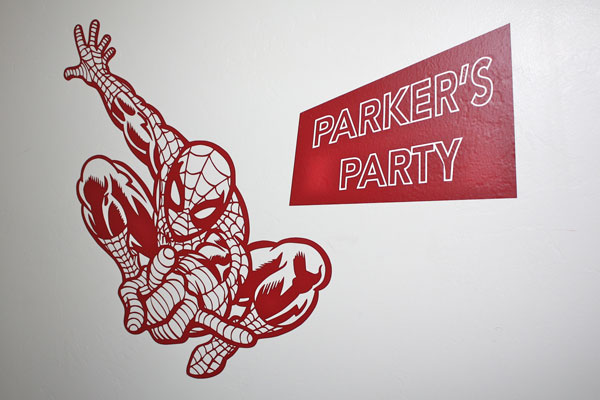 Spiderman Custom Party Wall Decal!