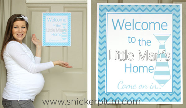 for our little man party decor banner we decided to do a customizable banner this is snickerplums first customizable banner included in the cost