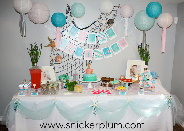 Girly Mermaid Birthday Party Food Snickerplum S Party
